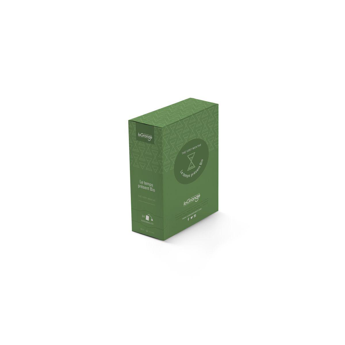 Le temps présent thé vert menthe bio 24 sachets - Lagrange