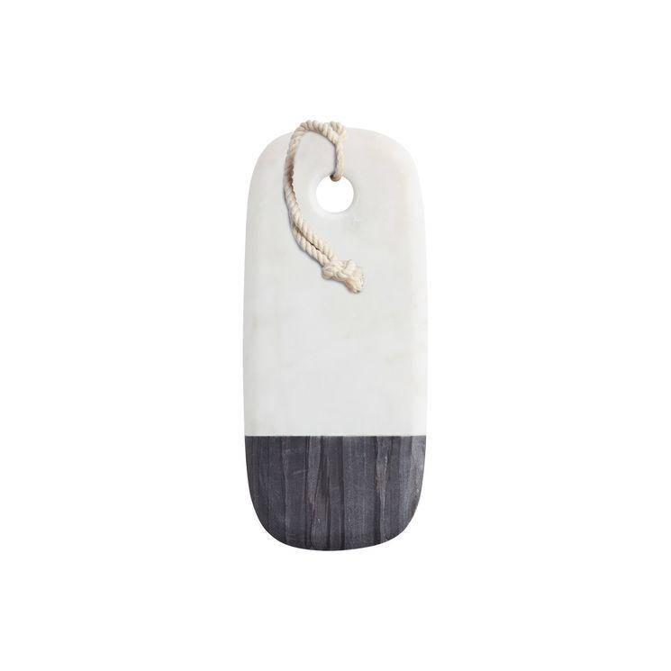 Planche rectangulaire marbre noir et blanc 35x15cm - Master Class