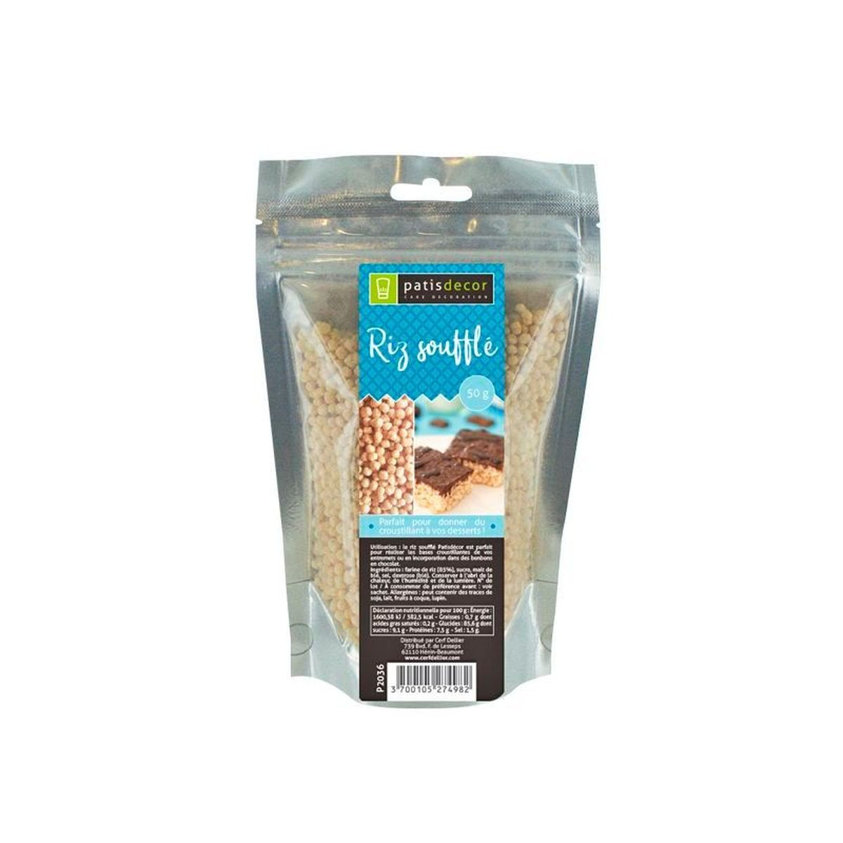 Riz soufflé Patisdecor 50g - Patisdecor