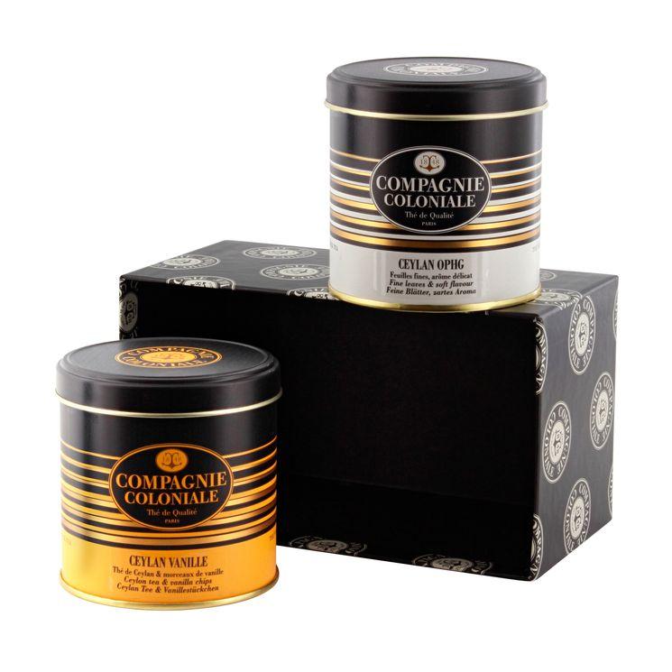Coffret boîtes de luxe : Ceylan ophg /  Ceylan vanille - Compagnie Coloniale