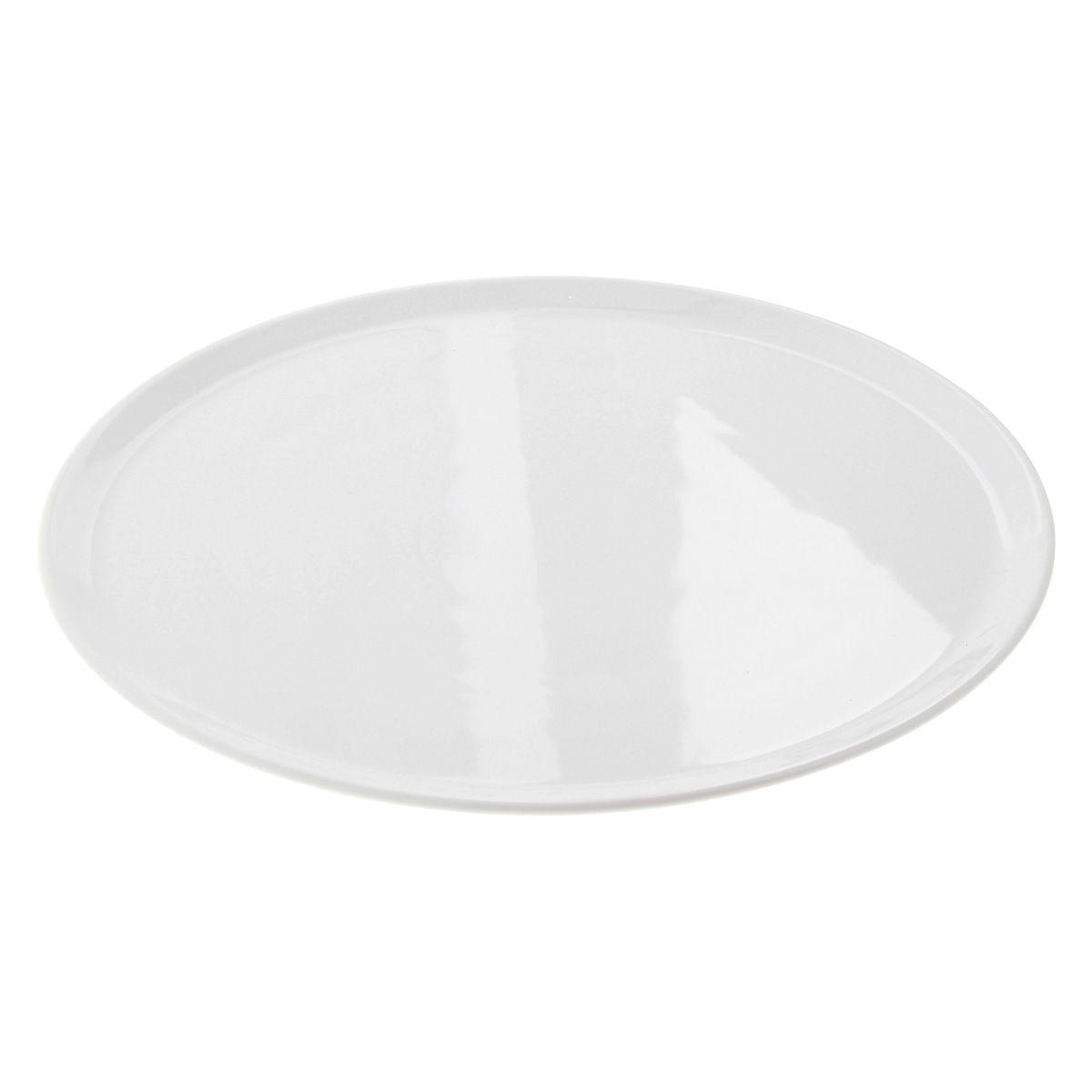 Plat à gâteau en porcelaine blanche 33cm - Table Top Diffusion