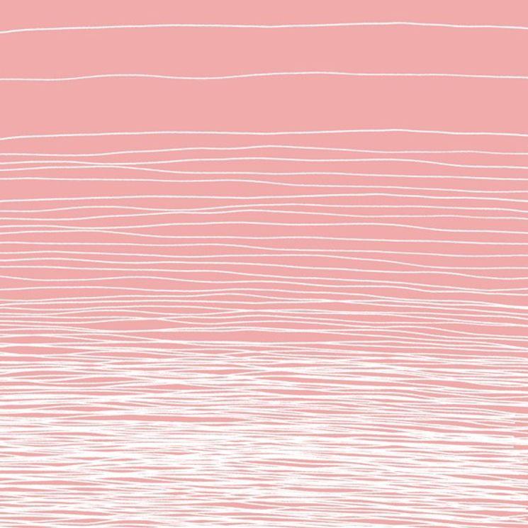 SERVIETTES 33CMX33CM LIGNES BLANCHES FOND ROSE - AVANT GARDE