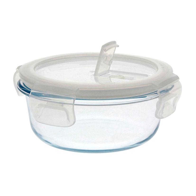 Boîte ronde en verre 400 ml - Pebbly