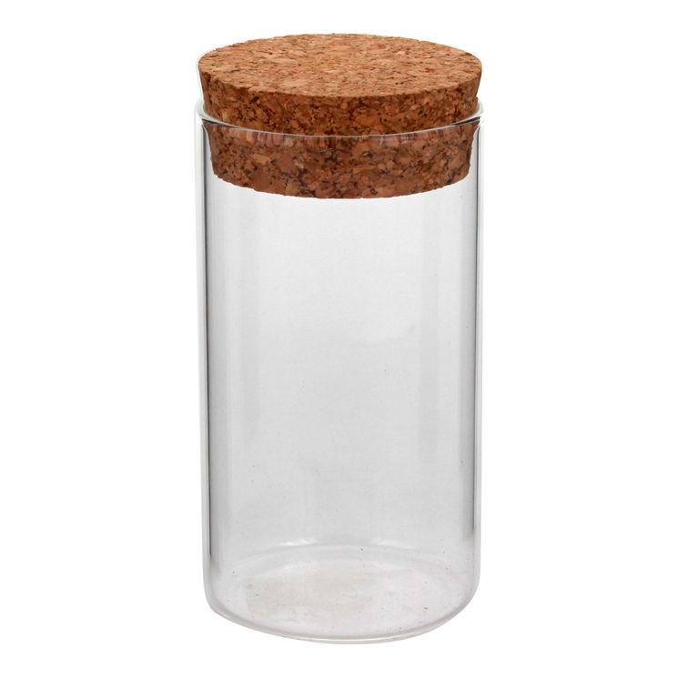Boîte de conservation en verre avec couvercle en liège 175 ML - Zeller