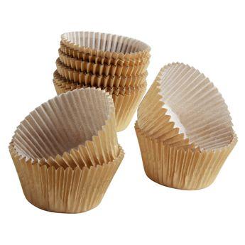 Achat en ligne 45 caissettes de cuisson à cupcakes et muffins dorés 7.5 x 3.5 cm - Chevalier Diffusion