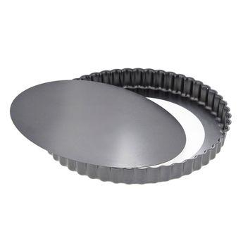 Moule à tarte rond cannelé amovible acier revêtu 24 cm - De Buyer
