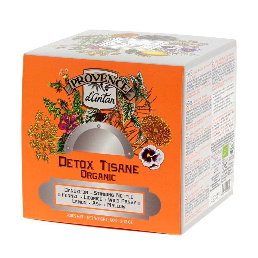 Recharge cube tisane détox 24 sachets bio* 60g - Provence d´Antan