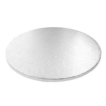 Achat en ligne Base gâteau ronde argentée 35cm - Anniversary House