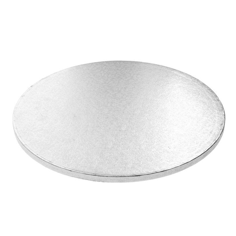 Base gâteau ronde argentée 35cm - Anniversary House