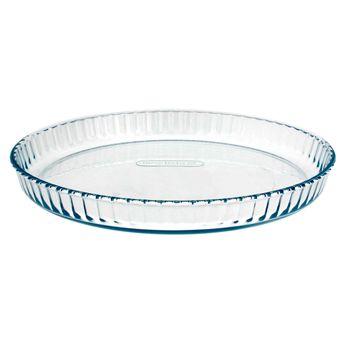 Plat à tarte transparent 31cm - Pyrex