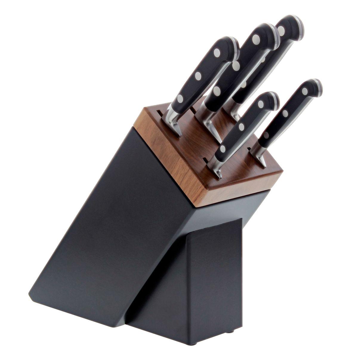 Bloc 5 couteaux idéal forges rivets inox Sarlat - Sabatier