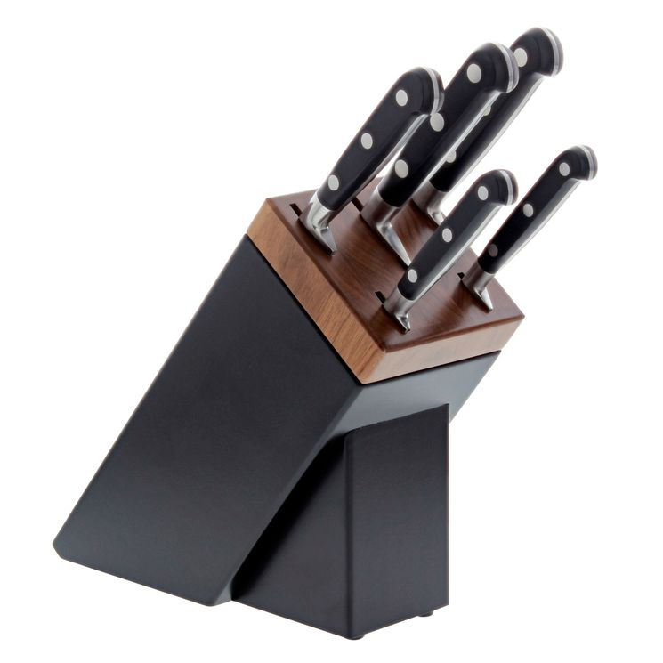 Bloc Sarlat 5 couteaux idéal forges rivets inox - Sabatier
