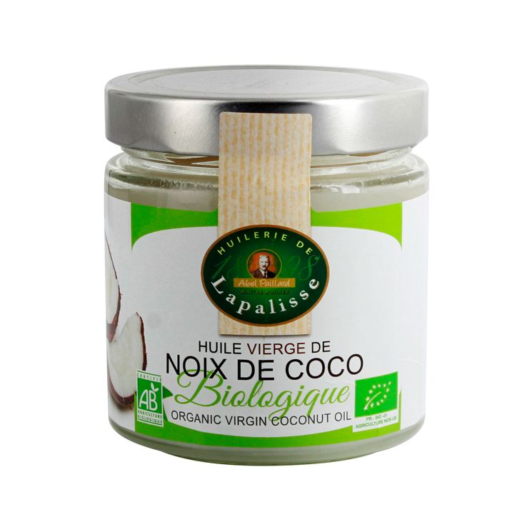Huile de coco vierge biologique 300gr - Huilerie de la Palisse