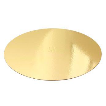Achat en ligne 5 supports à gâteaux ronds dorés 28 cm - Gatodeco