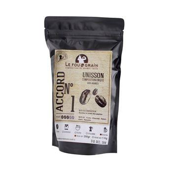 Café moulu pour cafetière piston Unisson Accord n°1 250gr - Le Fou du Grain