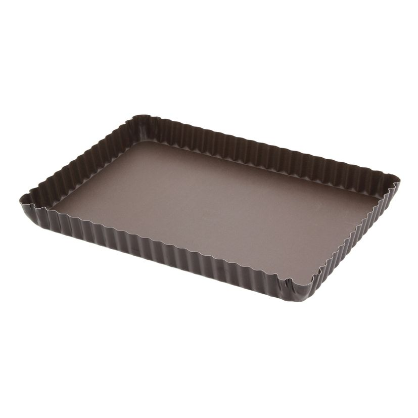 Moule à tarte rectangulaire anti adhérent  29 x 20.5 cm hauteut 2.5cm - Gobel