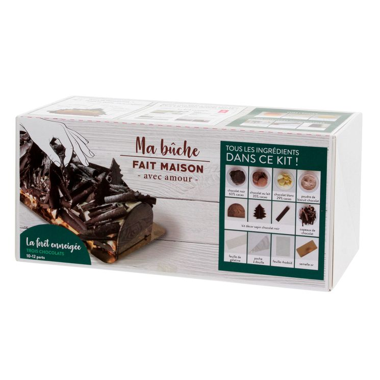 COFFRET INGREDIENTS BUCHE 3 CHOCOLATS - ALICE DELICE