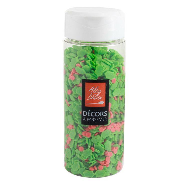 Sucre décoratifs houx 70gr - Alice Délice