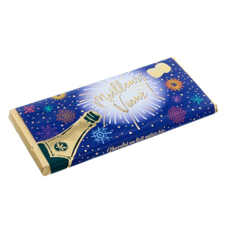 TABLETTE LICORNE BLEU CHOCOLAT LAIT NOEL - ART GRAFIK