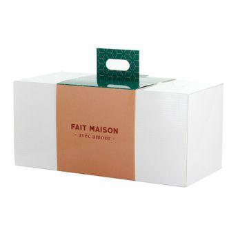 Boîte à gâteaux blanche 30x14x14cm - Alice Délice