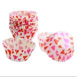 45 MOULES A CUPCAKES COEURS 7.5X3.5 CM - CHEVALIER DIFFUSION