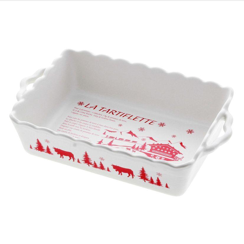 Plat à tartiflette blanc 33cm - Table & Cook