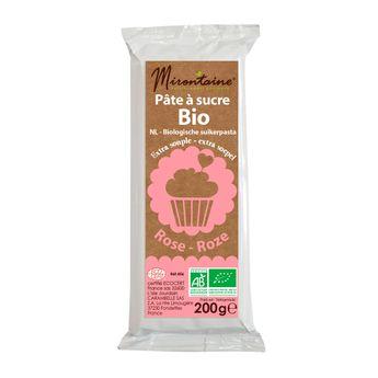 Achat en ligne Pâte à sucre bio rose 200gr - Mirontaine