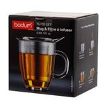 Mug en verre avec infuseur à thé en inox yoyo - Bodum