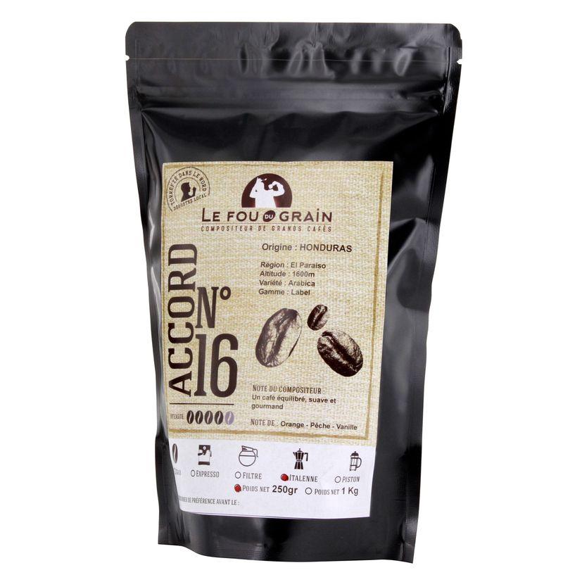 Café moulu pour cafetière italienne Honduras Accord n°16 - Le Fou du Grain