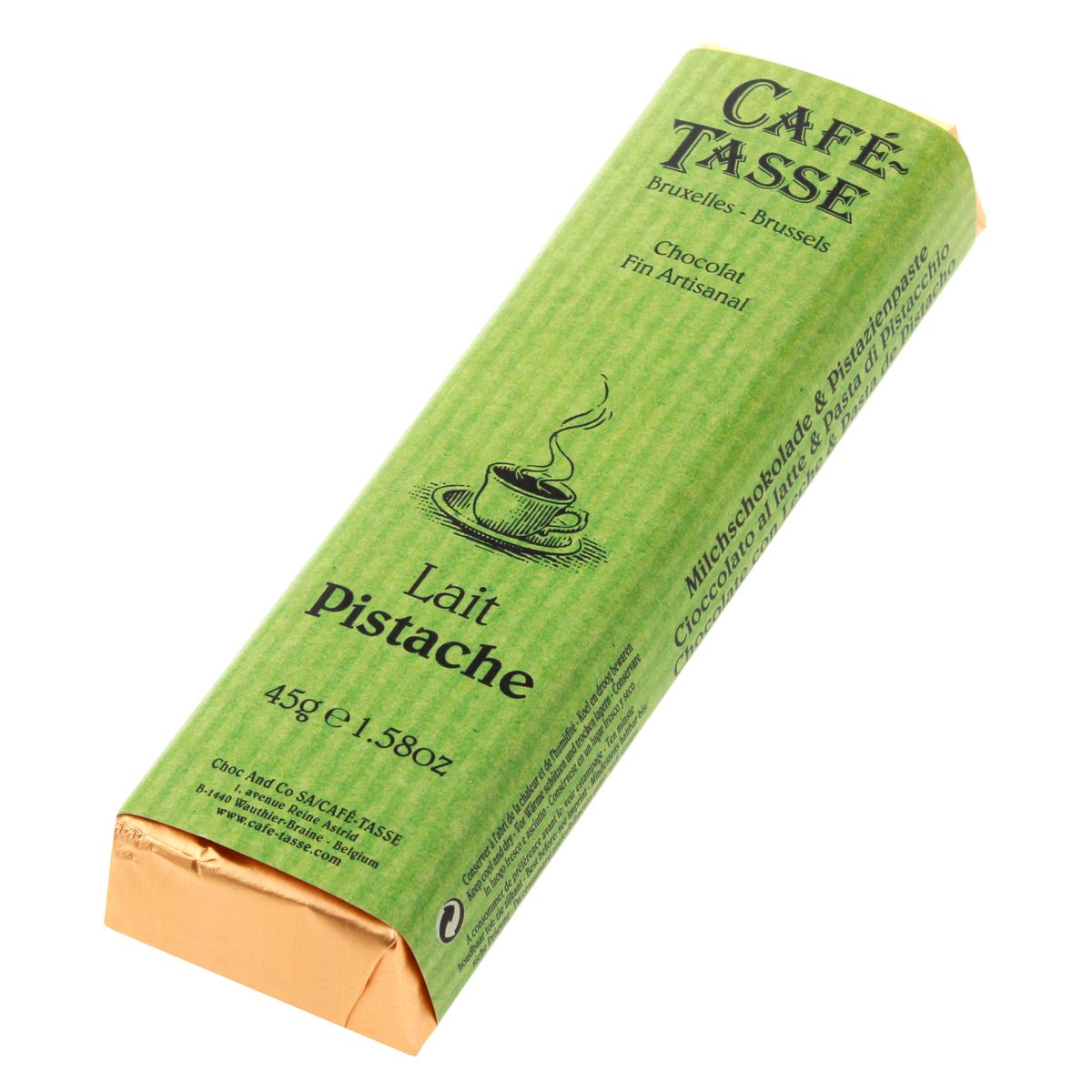 Bâton assorti goût lait pistache 45gr - Cafetasse