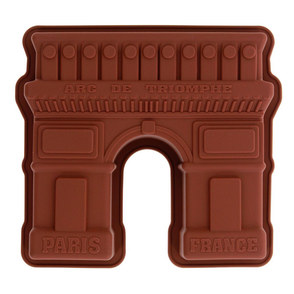 Moule gâteau en silicone marron Arc de Triomphe - Le Chef Paris