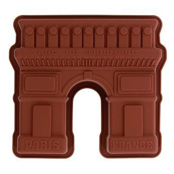Achat en ligne Moule gâteau en silicone marron Arc de Triomphe - Le Chef Paris