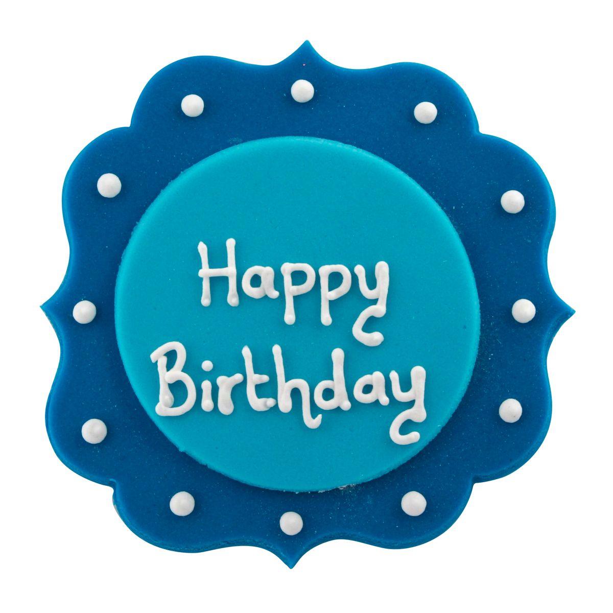 Sucre décoratif Happy Birthday bleu - Creative Party