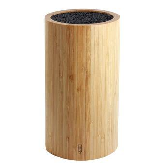 Bloc à couteaux en bambou rond sans couteaux  12cm h 22cm - PointVirgule