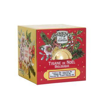 Achat en ligne Cube métal tisane Noel 24 sachets bio 60g - Provence d´Antan
