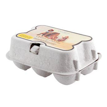 6 oeufs chocolat de Pâques fourrés praliné  en boite carton - Cafetasse