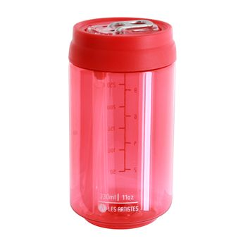 Canette Clear Can´it rouge 330ml - Les Artistes