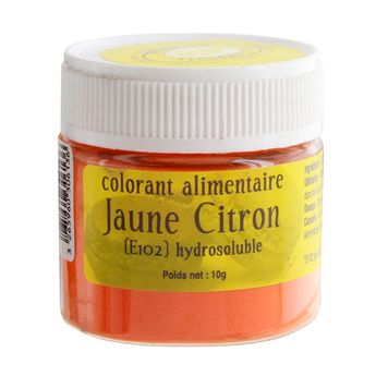 Colorant alimentaire hydrosoluble jaune citron 10 gr - Le Comptoir Colonial