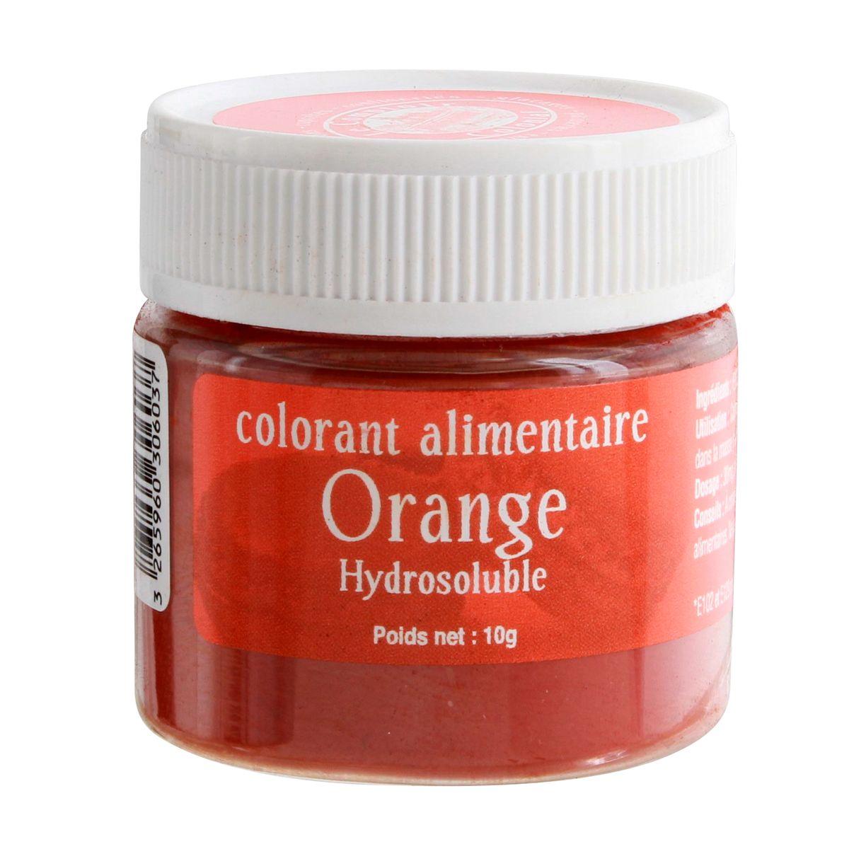 Colorant alimentaire hydrosoluble 10gr orange - Le Comptoir Colonial