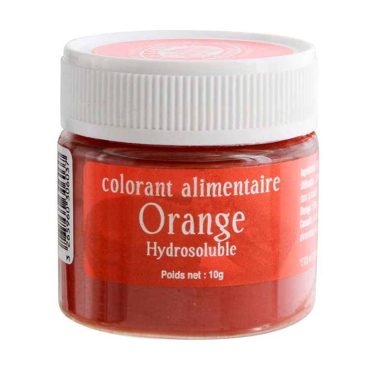 Colorant alimentaire hydrosoluble orange 10 gr - Le Comptoir Colonial