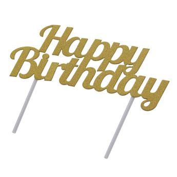 Achat en ligne Décor de gâteau : Happy Birthday doré - Creative Converting