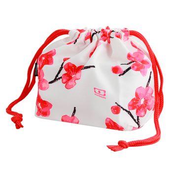 Sac mb pochette fleurs roses - Monbento