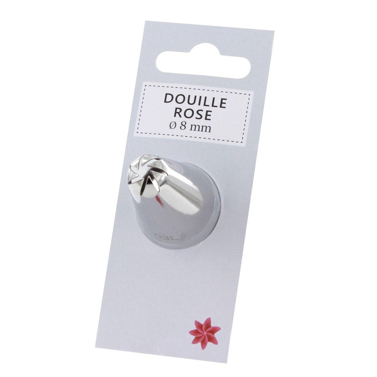 Douille inox rose 8 mm