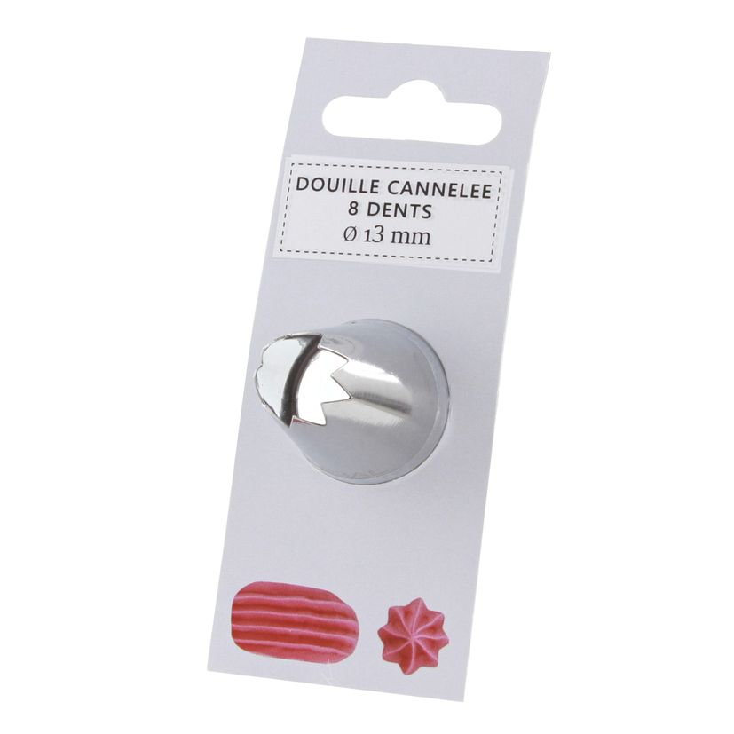 Douille inox cannelée 8 dents 13 mm