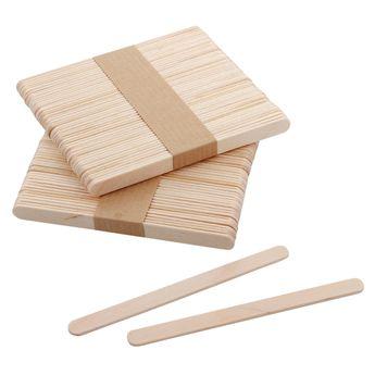100 bâtonnets en bois pour glaces esquimaux 11cm - Silikomart