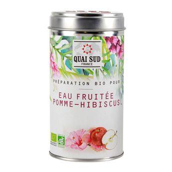Eau fruitée pomme - hibiscus - Quai Sud