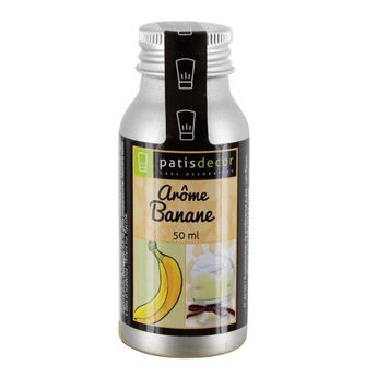 Arôme alimentaire naturel banane 50 ml - Patisdecor