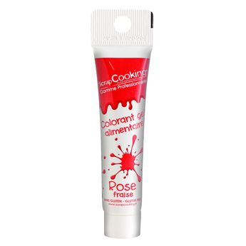 Colorant gel alimentaire rose fraise 20gr - Scrapcooking