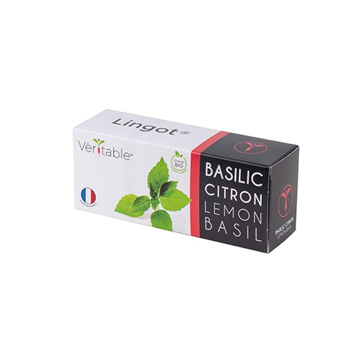 Recharge pour potager d´intérieur Véritable basilic citron bio - Véritable