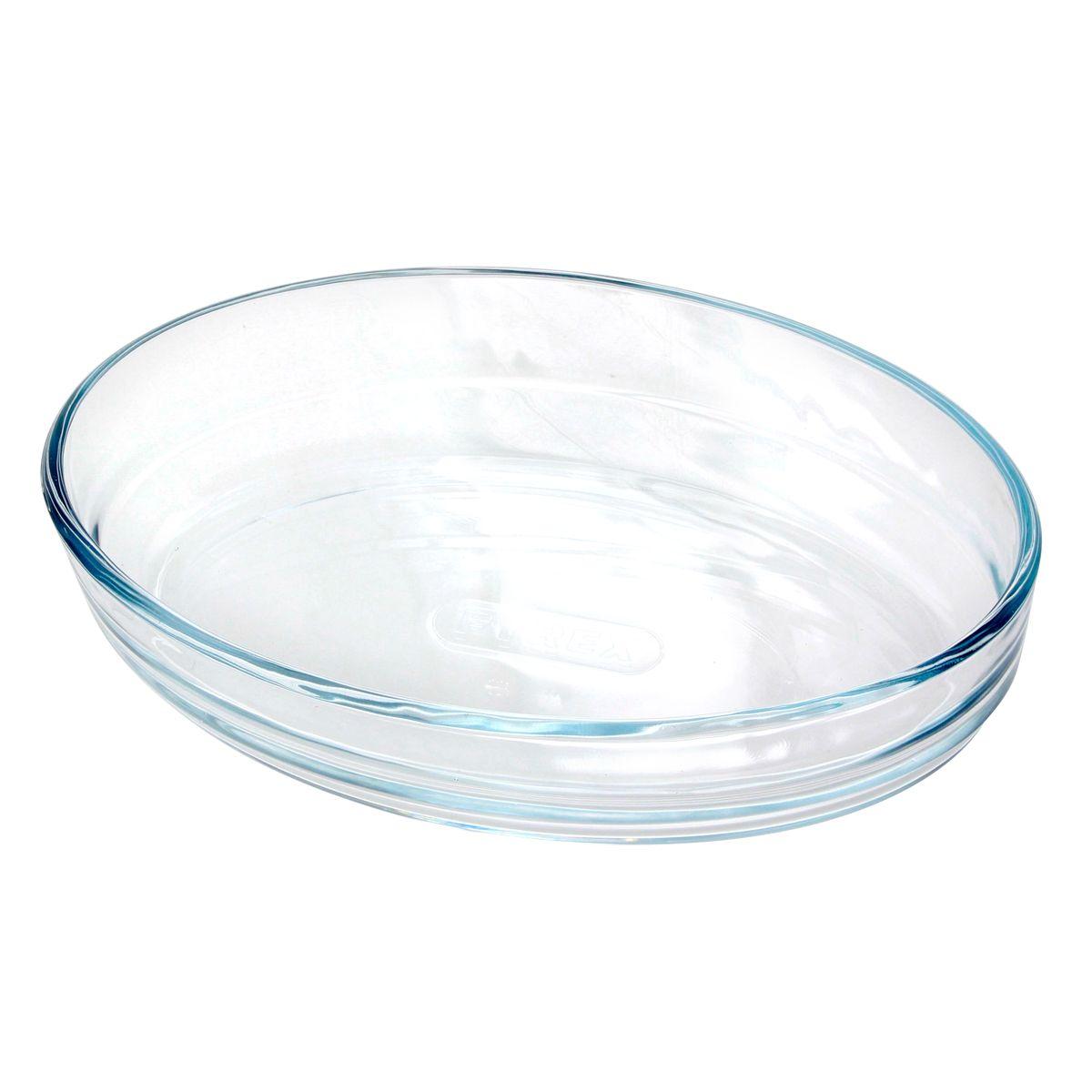 Plat à four en verre  ovale 21 x 13 cm - Pyrex
